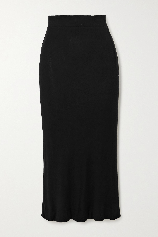 LESET Lori 拉绒弹力平纹布中长半身裙