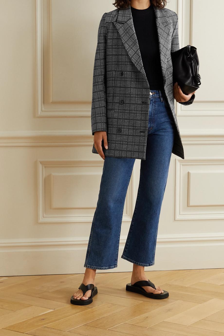 LESET Stili doppelreihiger Blazer aus Webstoff mit Glencheck-Muster