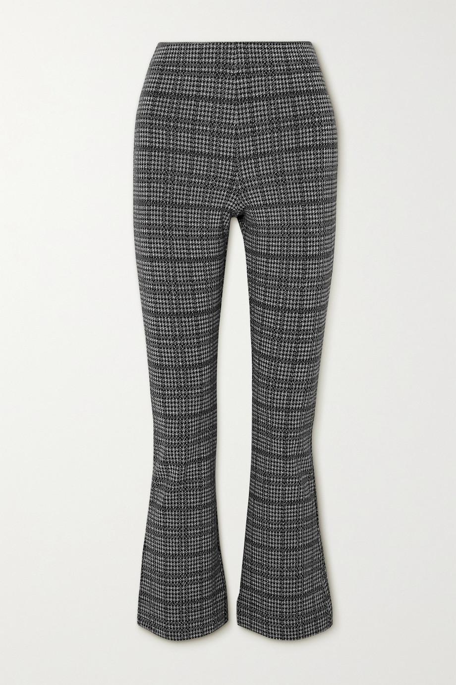 LESET Stili 威尔士亲王格纹梭织九分喇叭裤