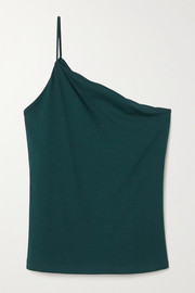 LESET Dylan one-shoulder stretch-jersey top