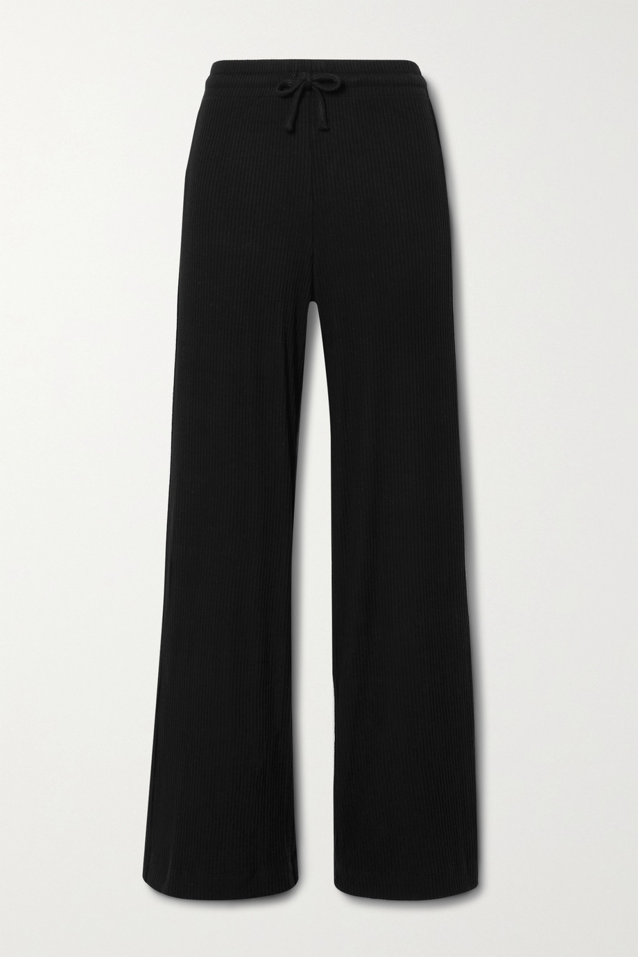 LESET Alex ribbed stretch-knit wide-leg pants