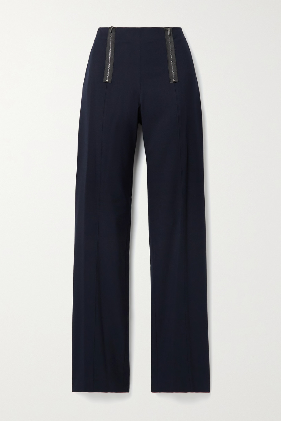 Jason Wu Zip-embellished twill straight-leg pants