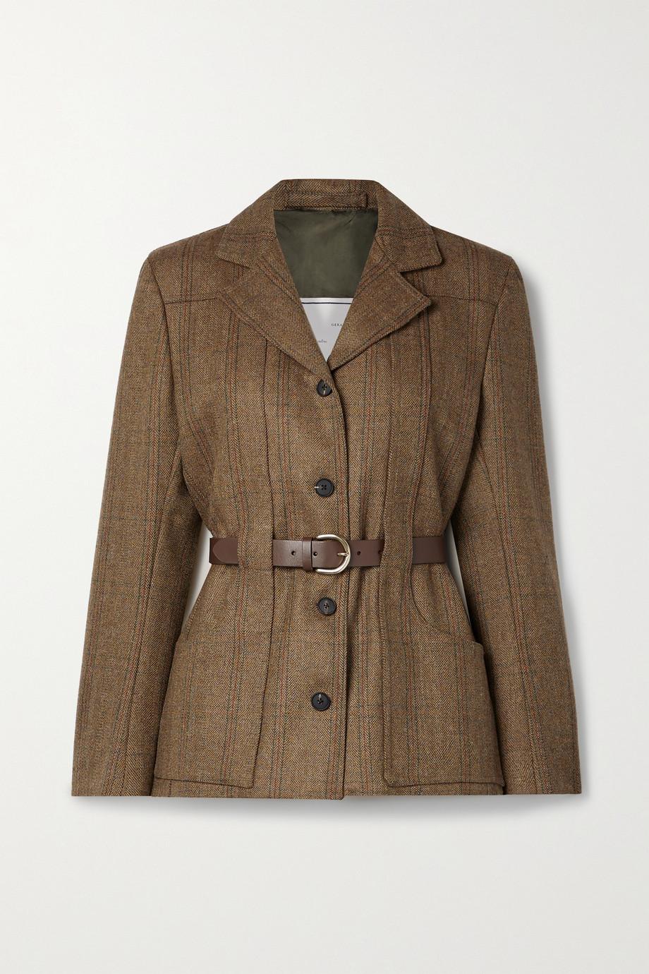 Giuliva Heritage + NET SUSTAIN The Nora belted checked herringbone wool jacket