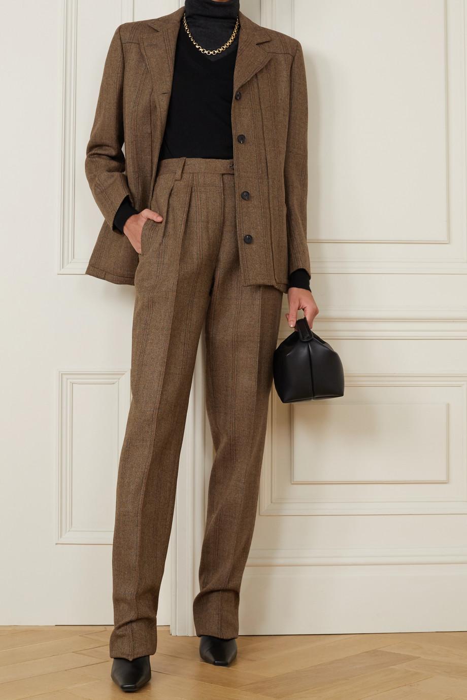 Giuliva Heritage Pantalon slim en laine à chevrons et à carreaux The Husband - NET SUSTAIN