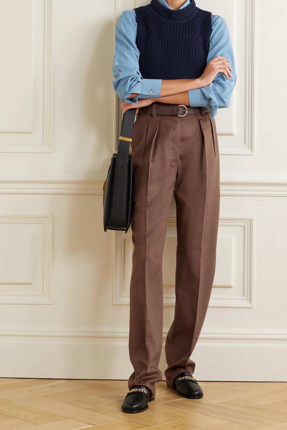 Giuliva Heritage + NET SUSTAIN The Gastone pleated camel hair straight-leg pants