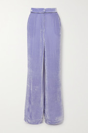 Sleeping with Jacques The Bon Vivant piped velvet wide-leg pants