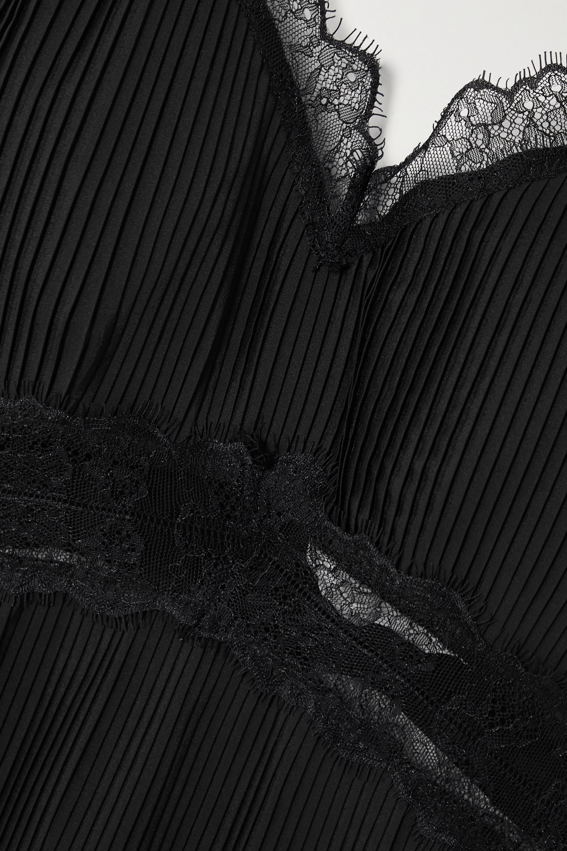 Sleeping with Jacques The Osiris lace-trimmed plissé-silk crepe de chine camisole