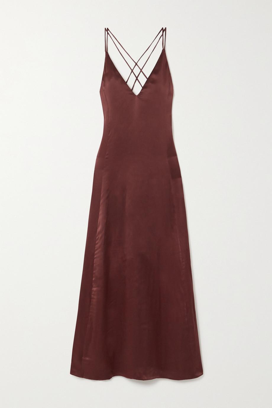 Sleeping with Jacques The Freudian silk-satin maxi dress