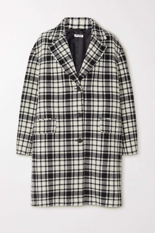 Miu Miu Checked wool-blend coat