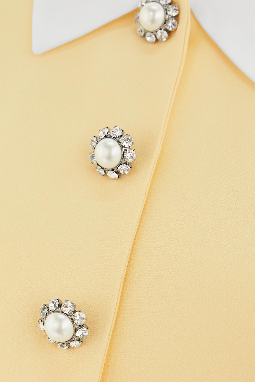 Off-white Cropped Embellished Cady Blazer | Miu