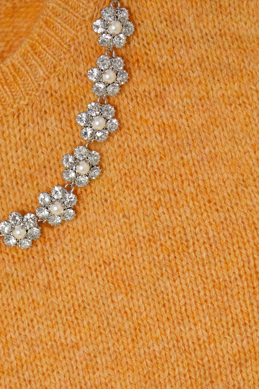 Miu Miu Pull sans manches en laine à cristaux