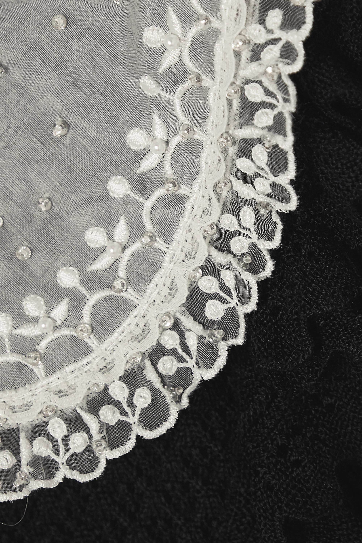 Miu Miu Cardigan en cachemire et soie mélangés à volants et à cristaux