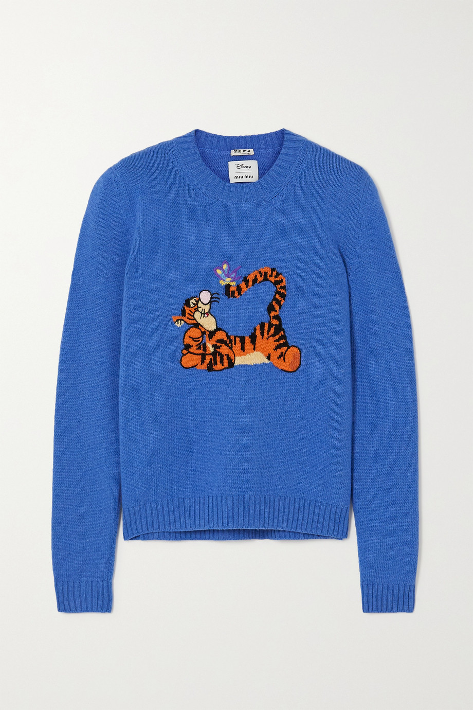 Miu Miu + Disney Pullover aus Wolle mit Intarsienmotiv