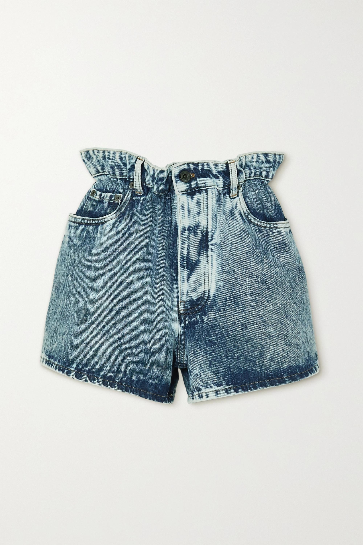 Miu Miu Short taille haute en jean