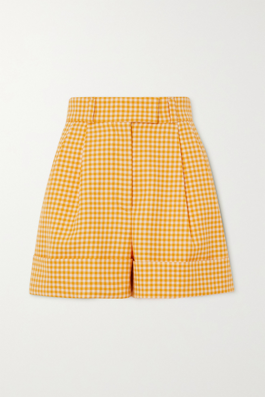 Miu Miu Gingham wool shorts
