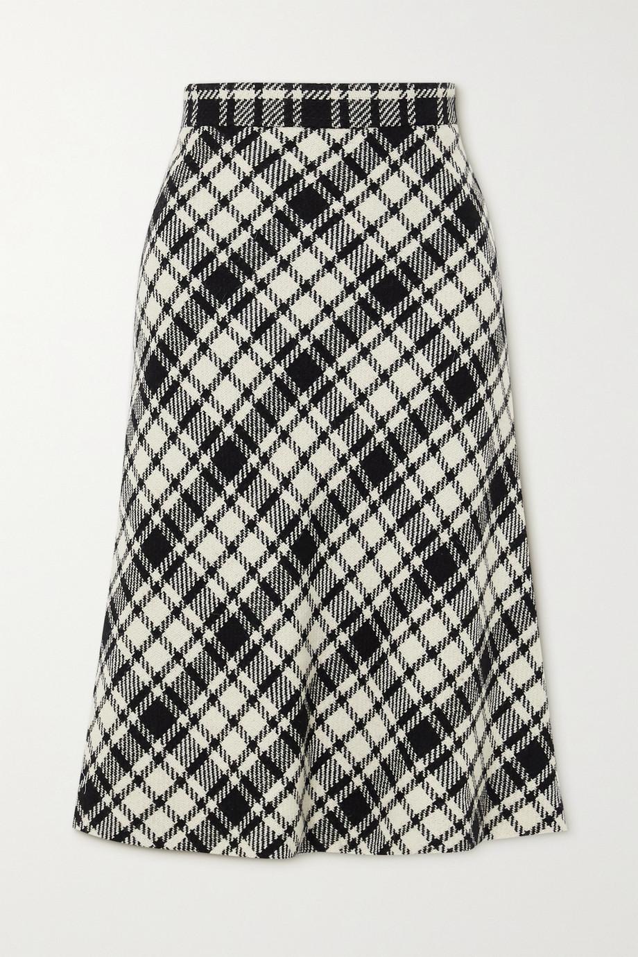 Miu Miu Midirock aus einer Wollmischung mit Glencheck-Muster
