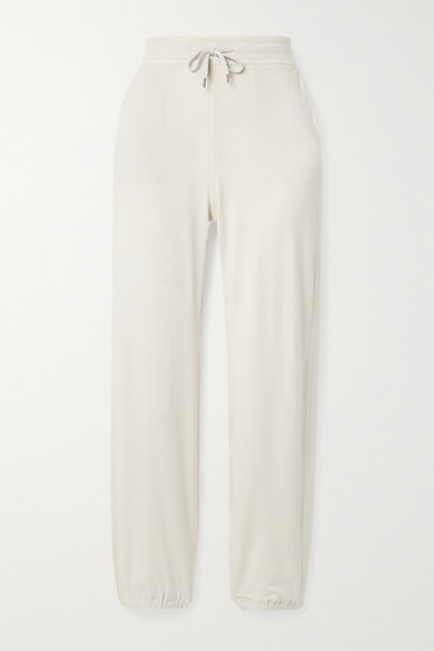 James Perse - Brushed-jersey Track Pants - Off-white