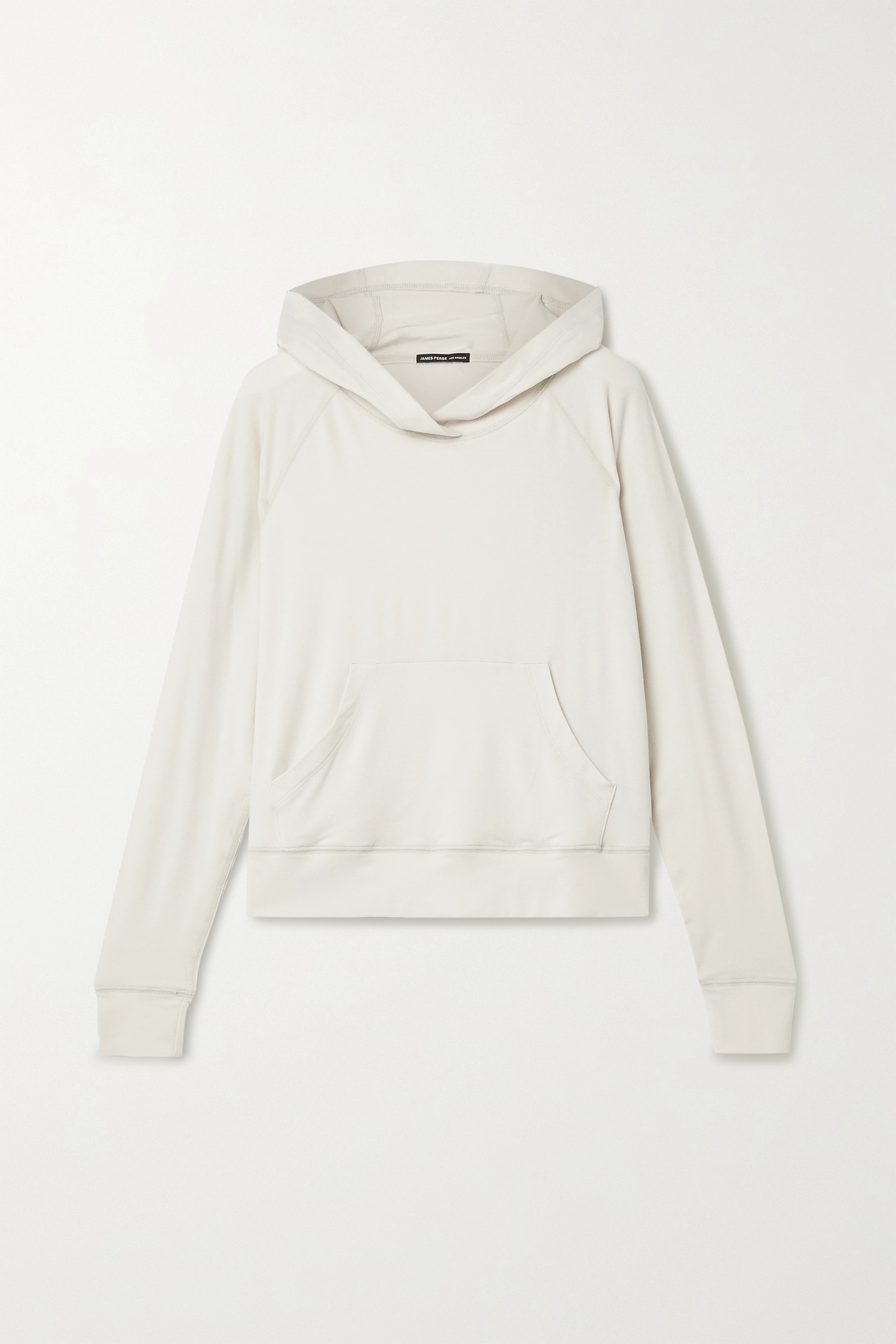 James Perse Brushed jersey hoodie