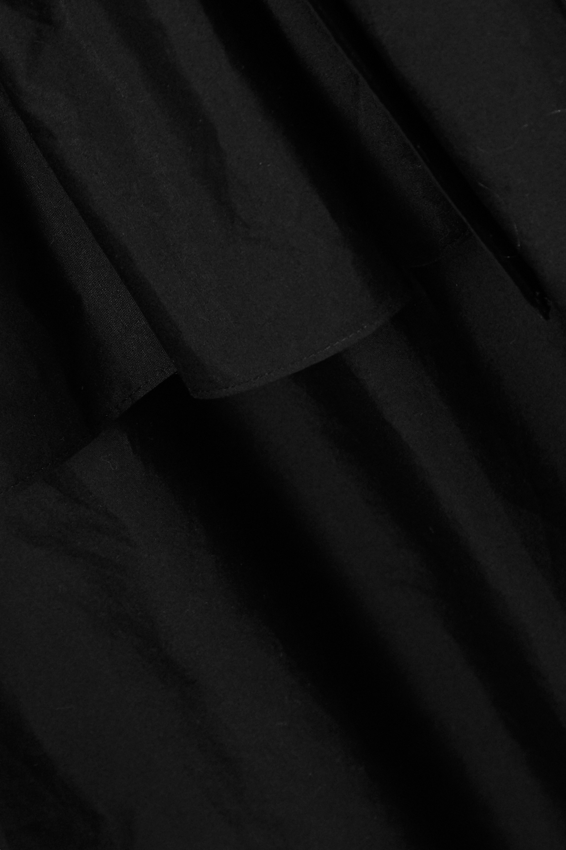 Black Ruffled Cotton-poplin Shirt Dress | Simone Rocha