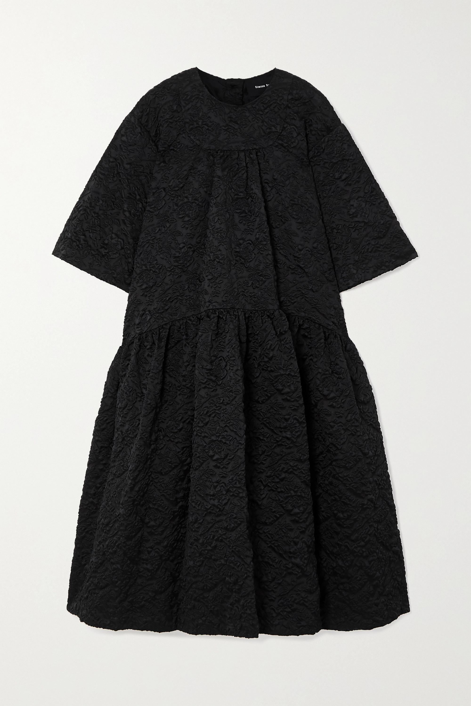 Simone Rocha Oversized tiered cloqué midi dress