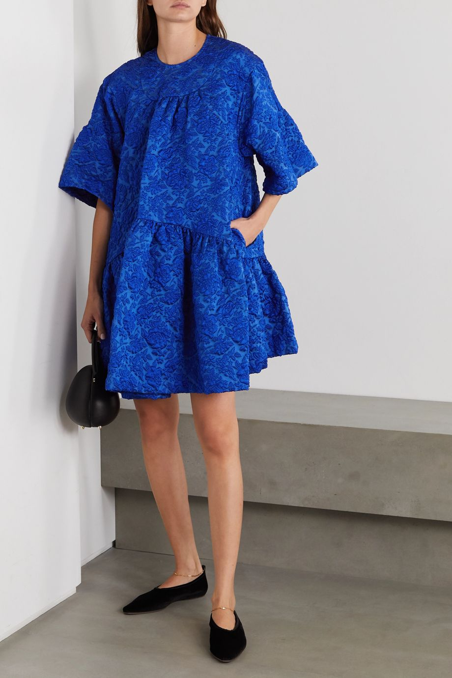 Simone Rocha Oversized-Minikleid aus Cloqué