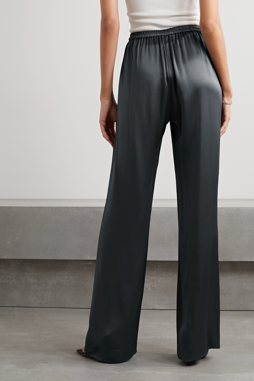 LAPOINTE Duchesse-satin wide-leg pants