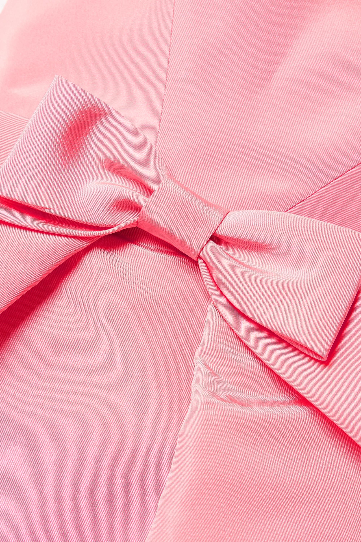 Oscar de la Renta Trägerlose Robe aus Seiden-Faille mit Schleife