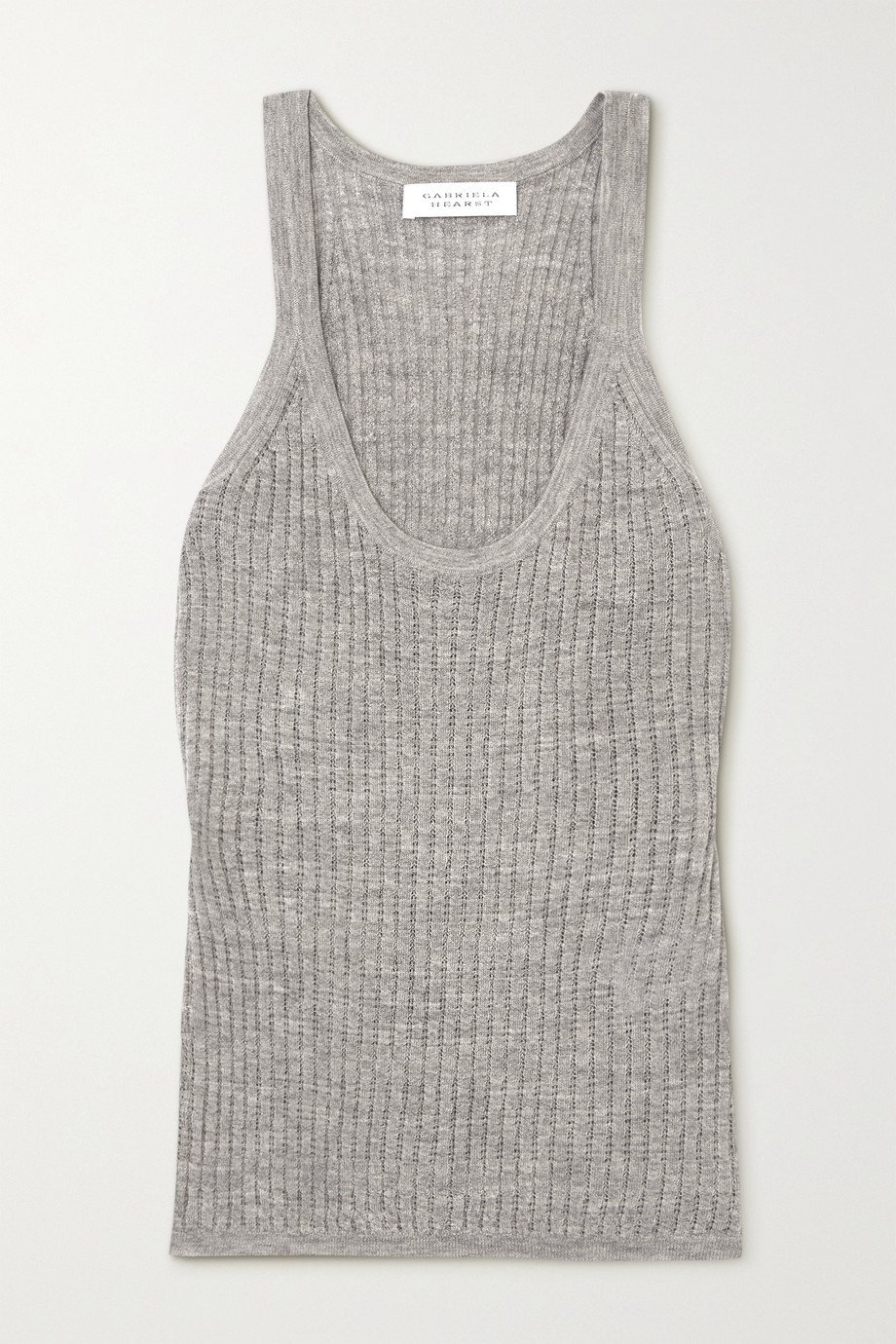 Gabriela Hearst Graham pointelle-knit cashmere and silk-blend tank