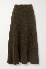 Gabriela Hearst Pablo cashmere and silk-blend bouclé midi skirt