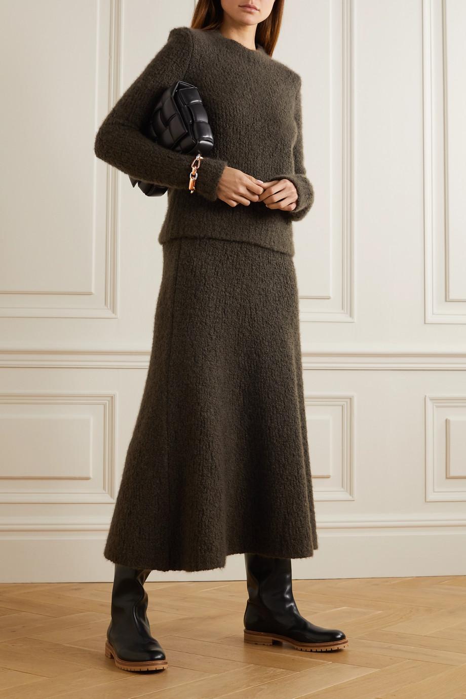 Gabriela Hearst Pablo cashmere and silk-blend bouclé midi skirt