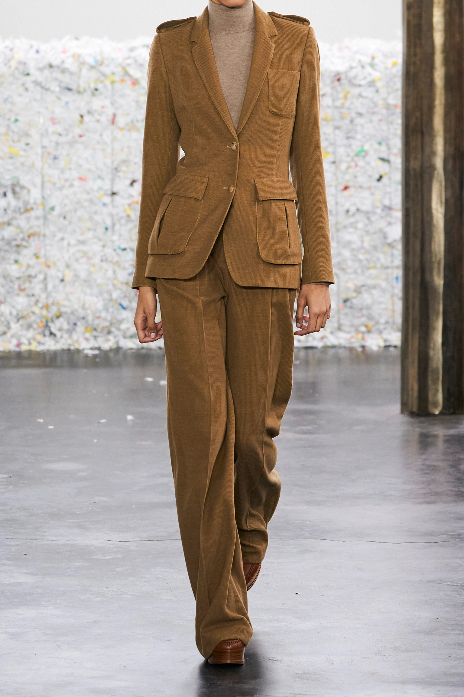 Gabriela Hearst Sonia pleated cashmere-corduroy wide-leg pants
