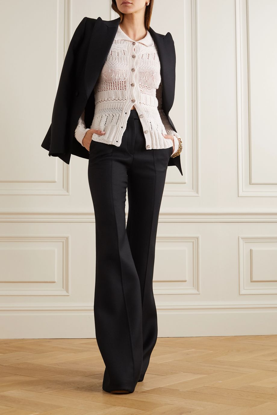 Gabriela Hearst Nitsan crocheted cashmere cardigan