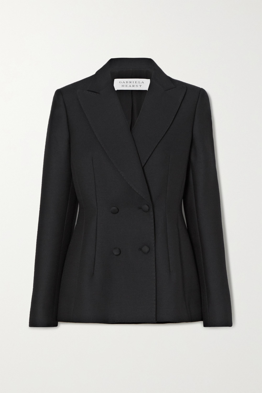 Gabriela Hearst Rezi 双排扣羊毛卡迪面料西装外套