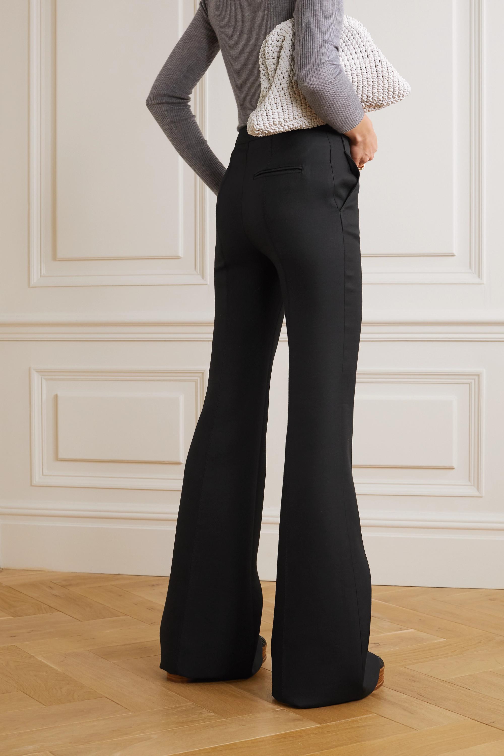 Gabriela Hearst Leda wool-cady flared pants