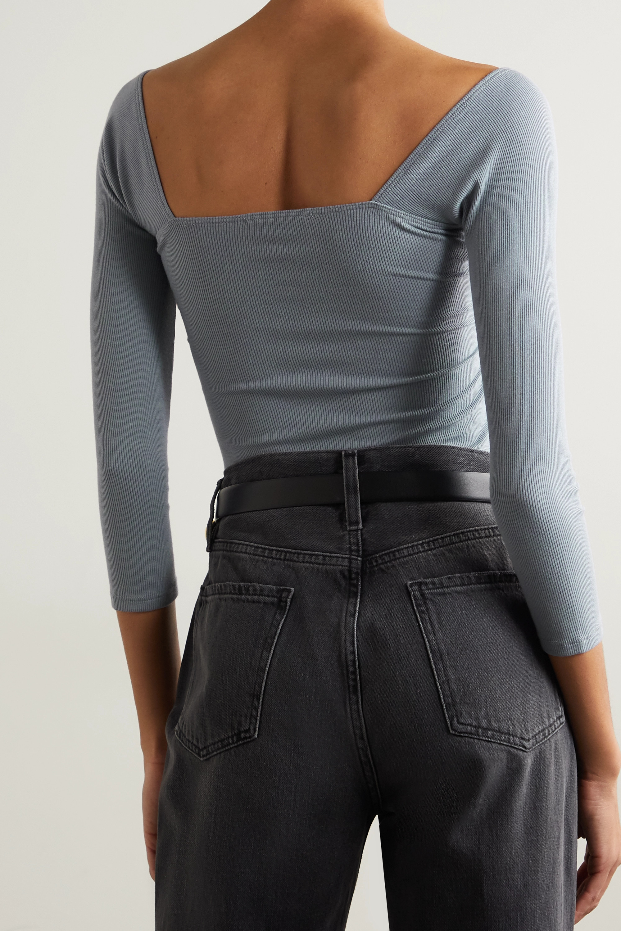 The Line By K Stevie twisted ribbed stretch-jersey top