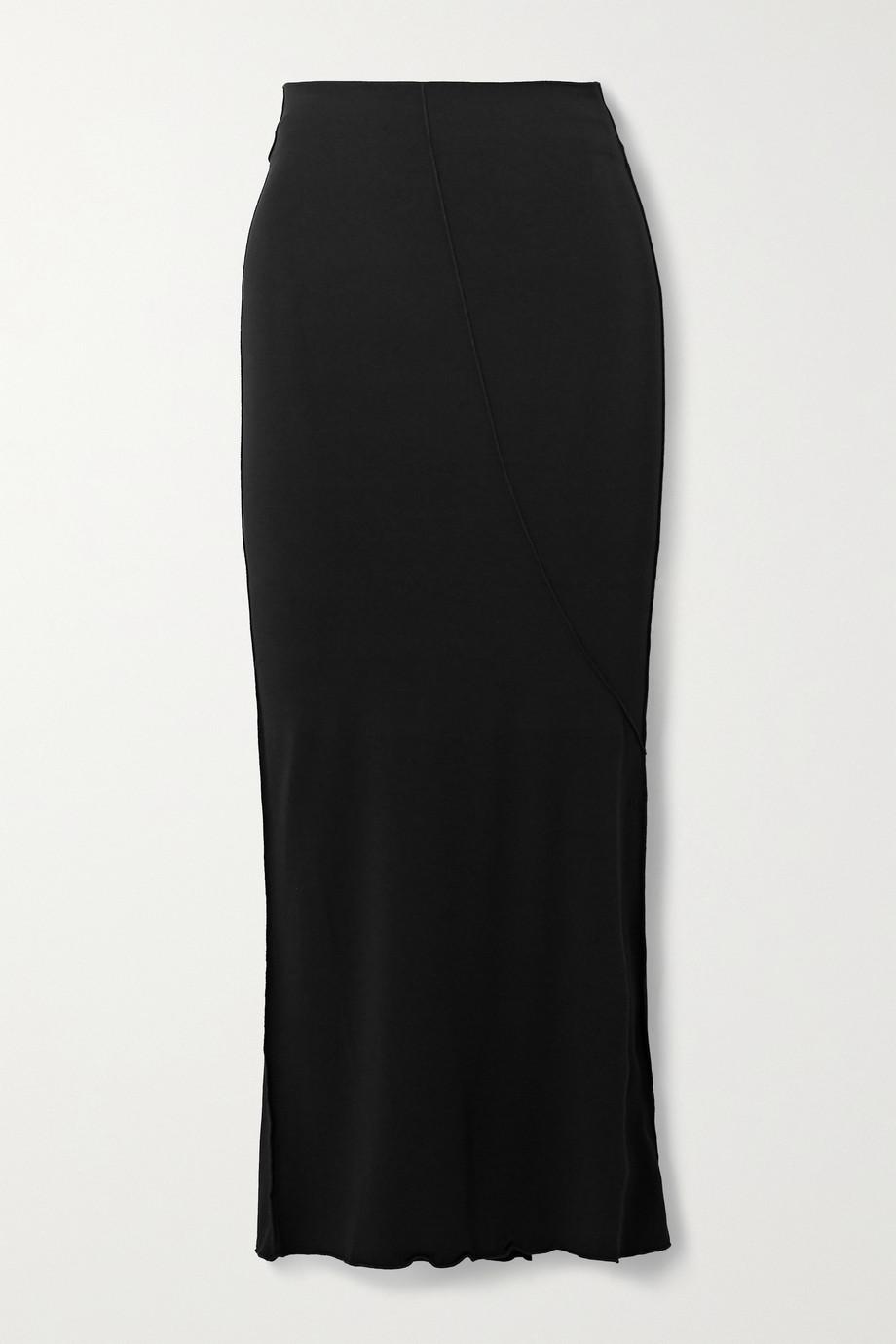 The Line By K Vana stretch-Micro Modal midi skirt