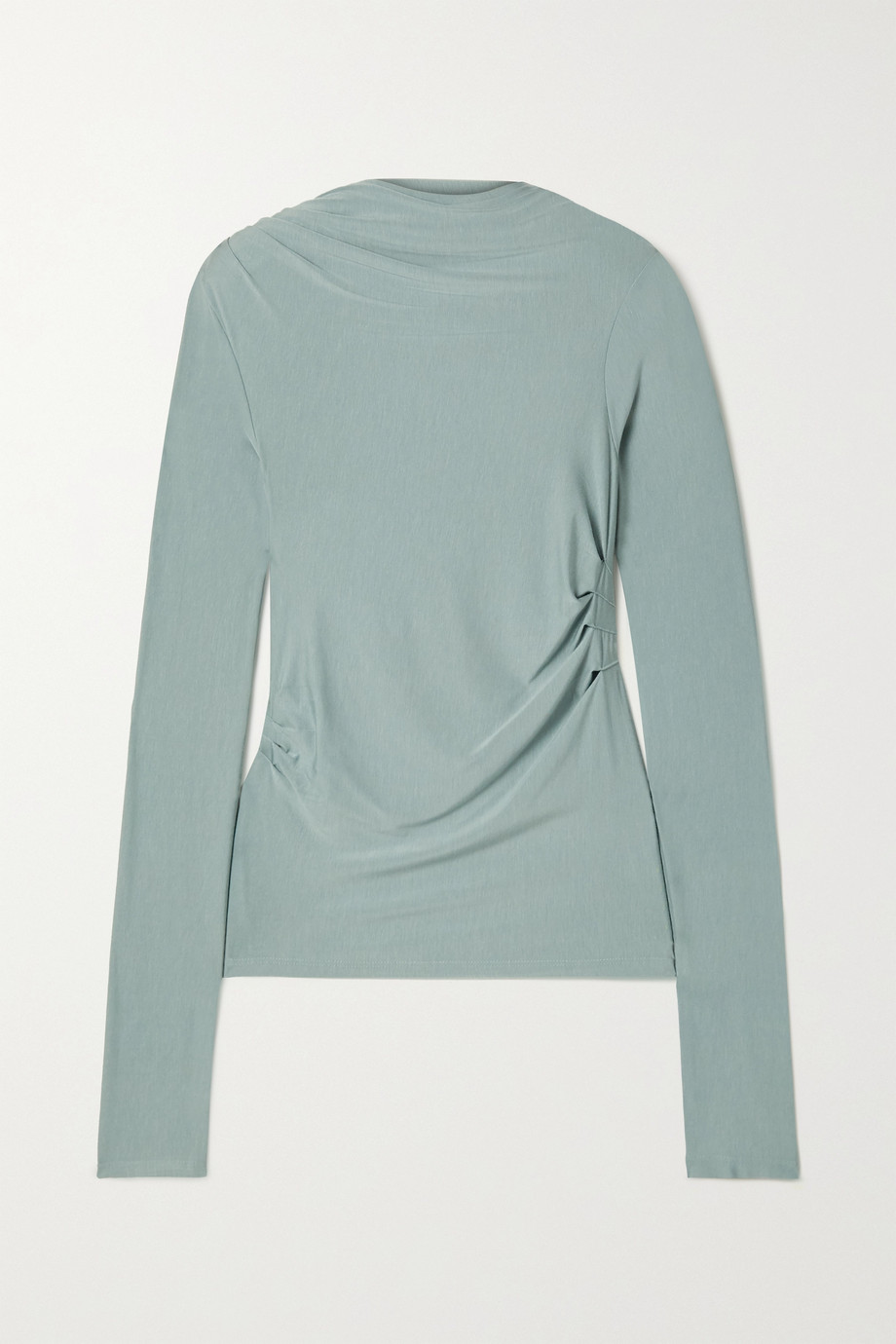 The Line By K Selma ruched stretch-Micro Modal top
