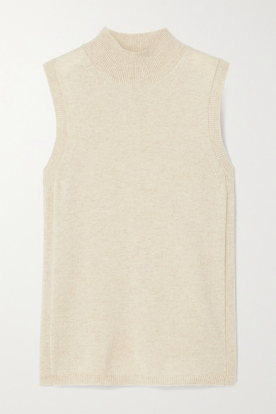 Veronica Beard - Mahaley Cashmere Top - Beige