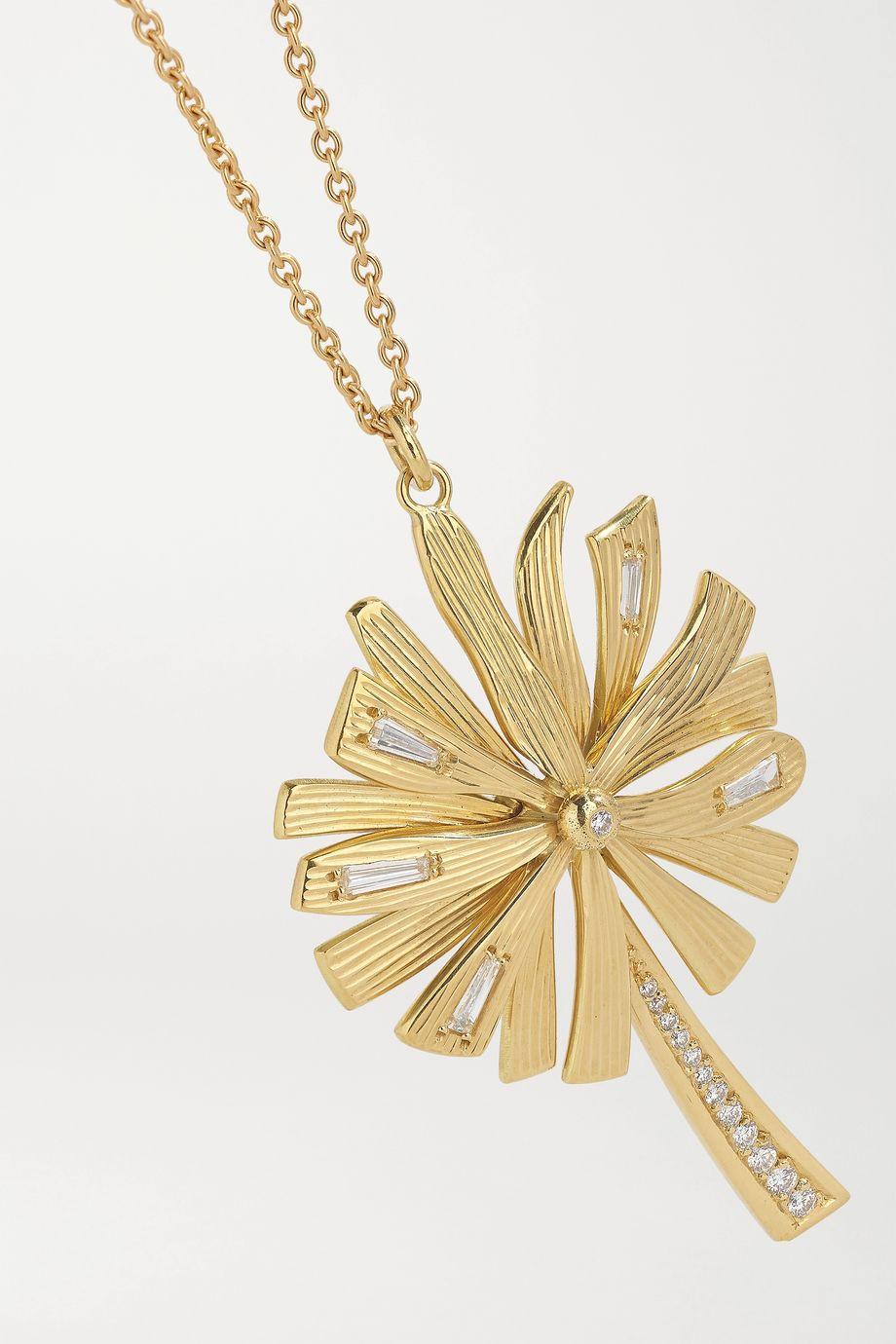 Brooke Gregson Dandelion Wish 18-karat gold diamond necklace