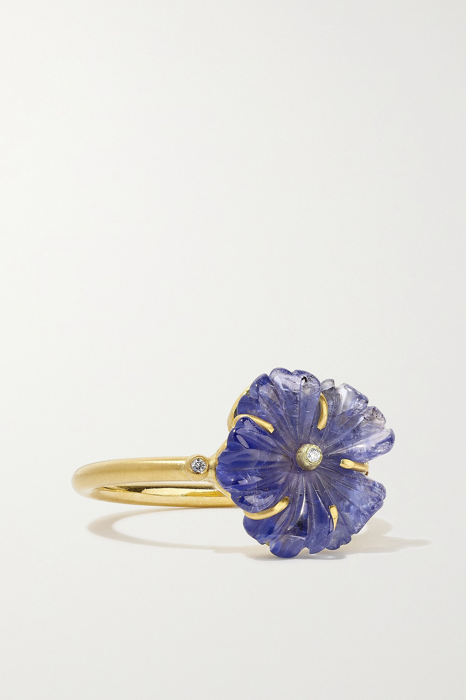 Brooke Gregson Blossom 18-karat gold, tanzanite and diamond ring