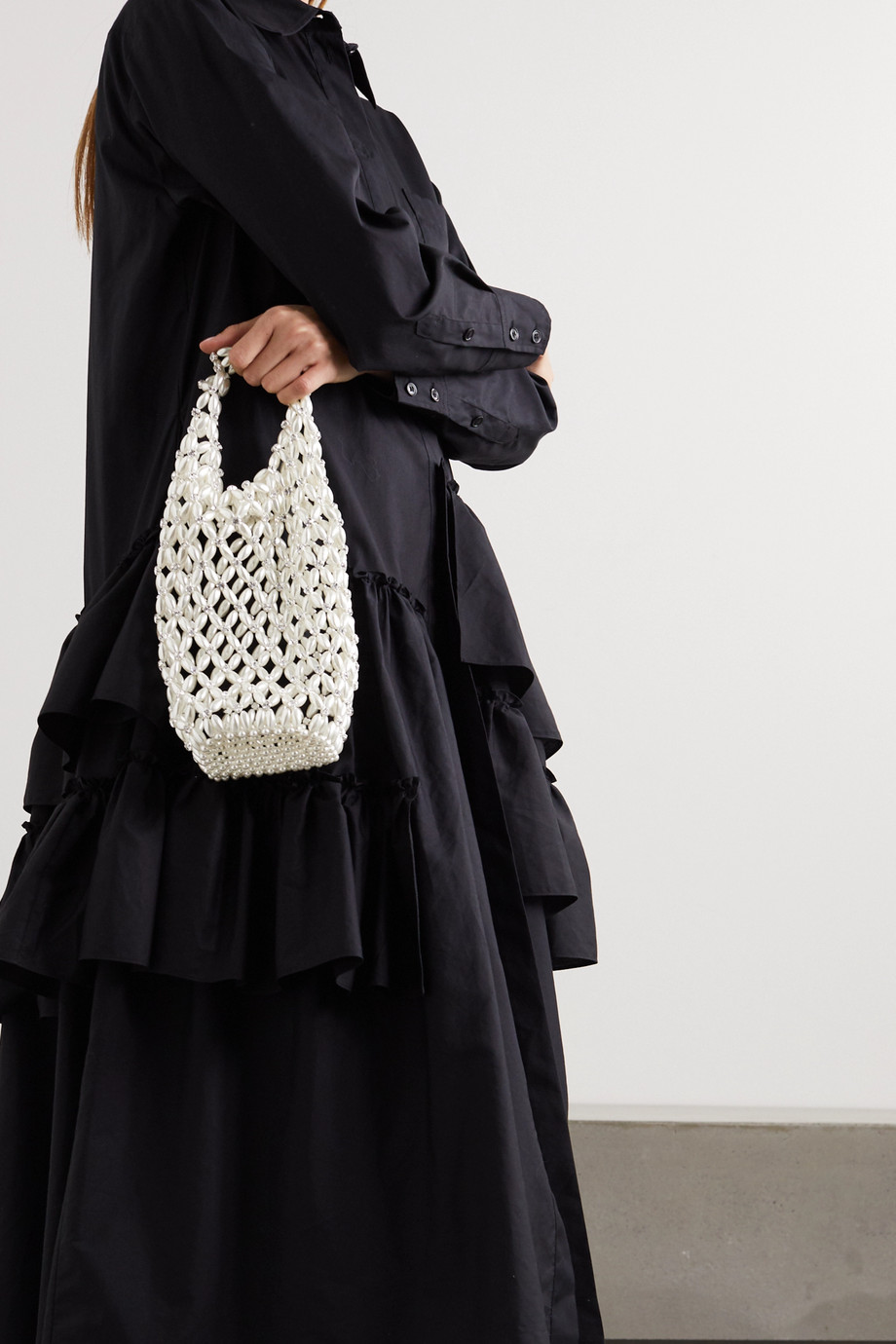 Simone Rocha Crystal-embellished beaded tote