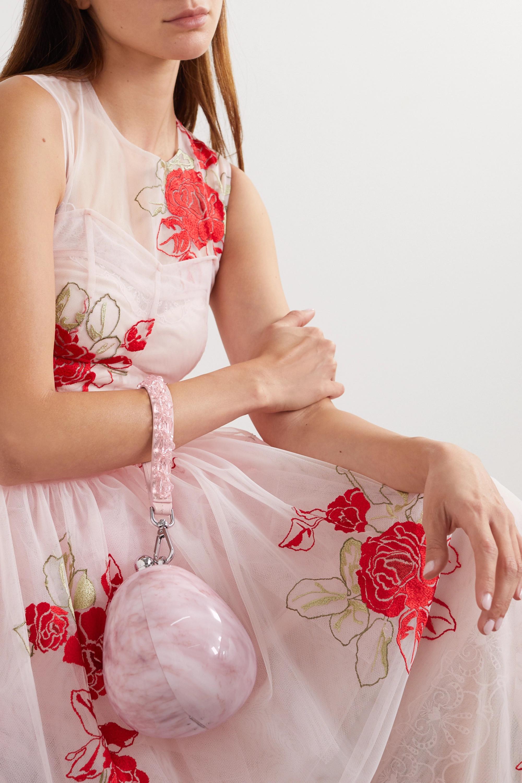 Simone Rocha Bead-embellished marbled acrylic tote