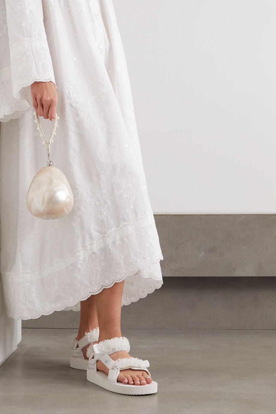 Simone Rocha 人造珍珠缀饰大理石纹亚克力手提包