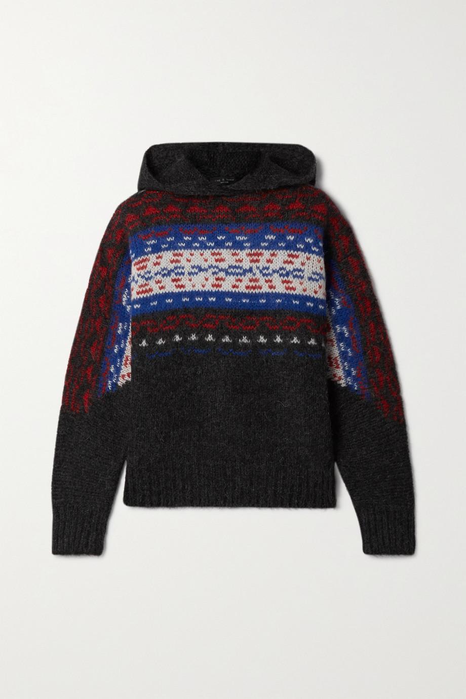 rag & bone Finlay intarsia alpaca-blend hoodie