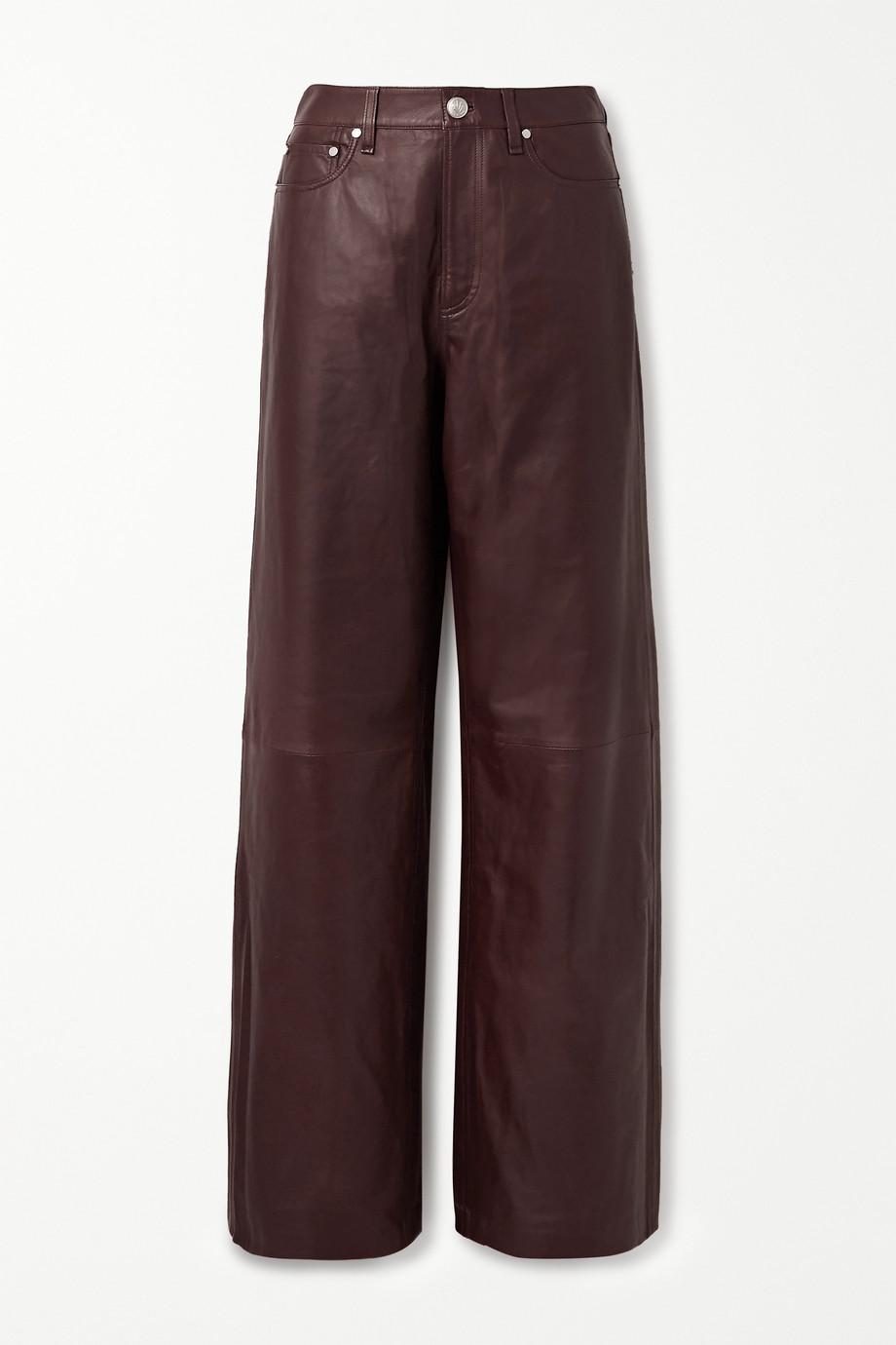 rag & bone Leather wide-leg pants