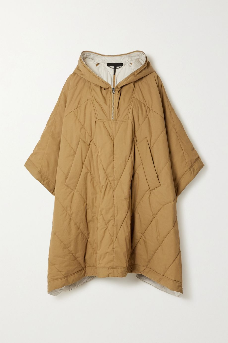 rag & bone Quilted padded cotton-blend shell cape