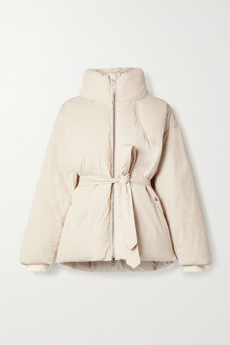 rag & bone Donna belted quilted cotton-blend shell down coat
