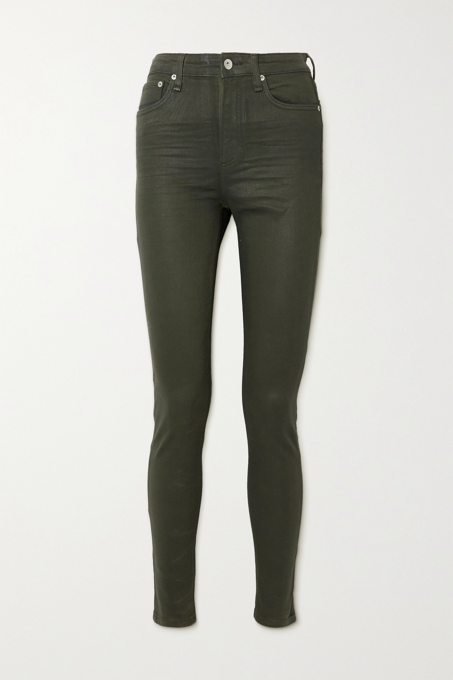 rag & bone Nina coated high-rise skinny jeans