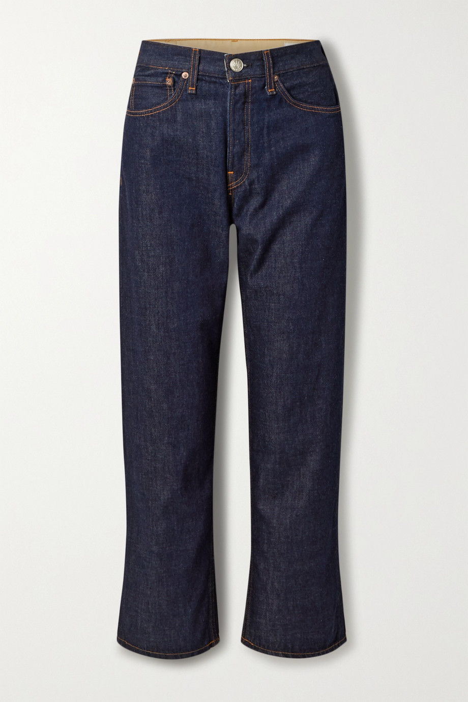 랙앤본 Rag & Bone Maya high-rise straight-leg jeans,Dark denim