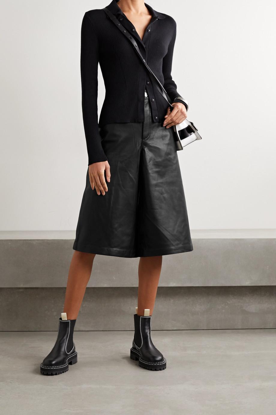 rag & bone Jupe-culotte en cuir